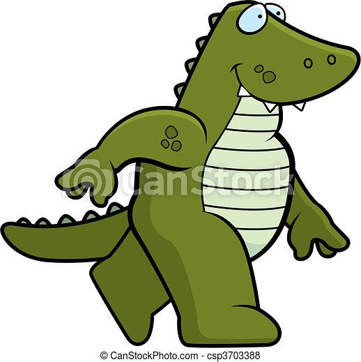 Alligator Walking - csp3703388