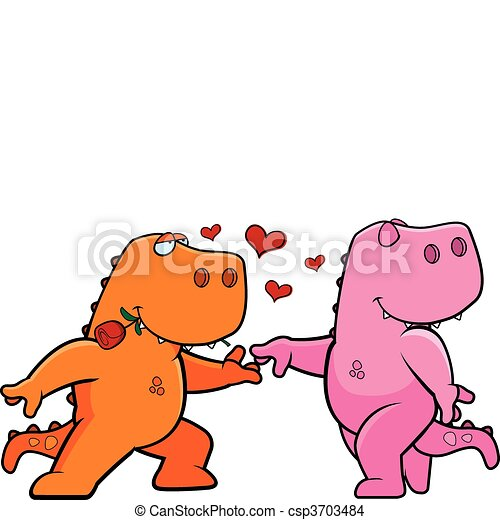 Dinosaur Romance - csp3703484