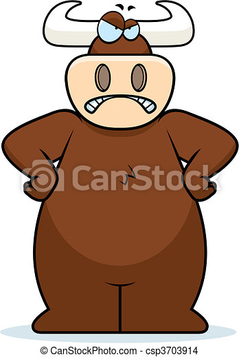 Angry Bull - csp3703914