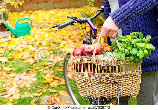 shopping bag with bicycle