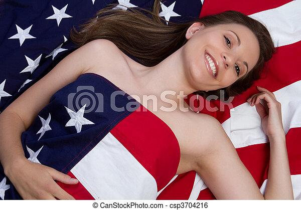 American Flag Woman