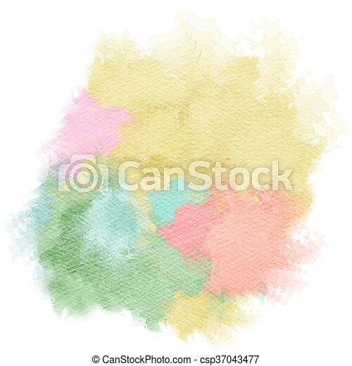 Abstract watercolor splash. Watercolor drop. Digital art painting.