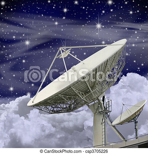 Large Satellite Dish - csp3705226