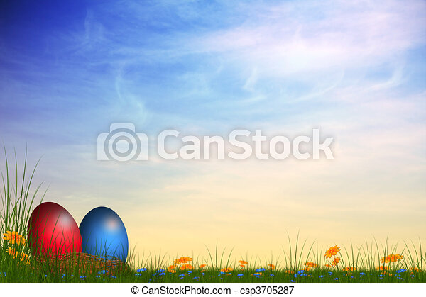 easter card - csp3705287