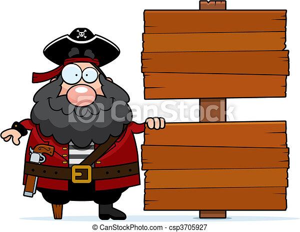 Pirate Sign - csp3705927