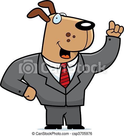 Dog Businessman - csp3705976