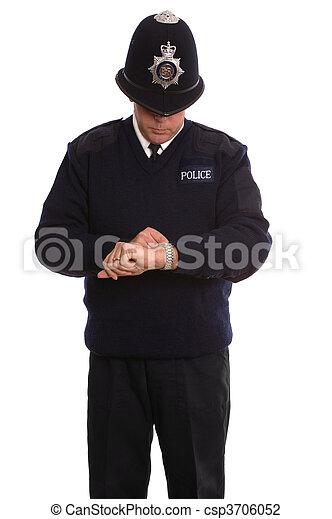 Policeman timecheck. - csp3706052