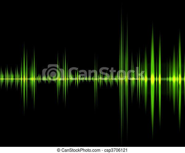 green wave of sound - csp3706121