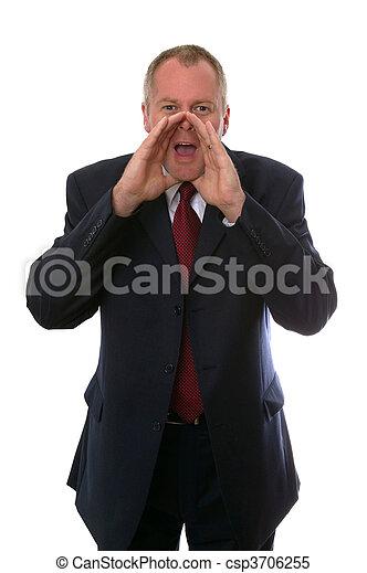 Businessman shouting - csp3706255