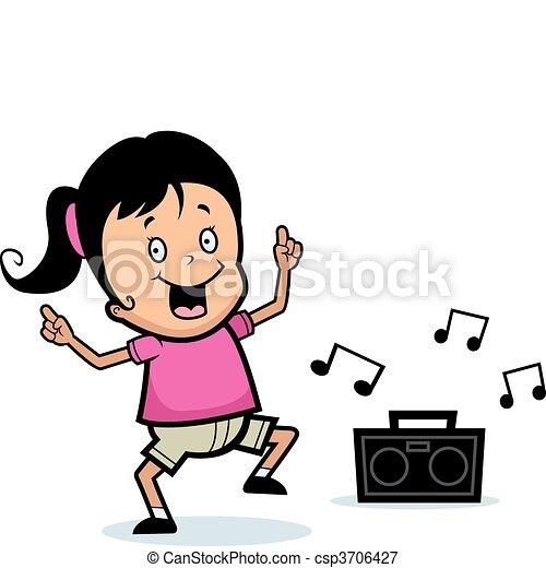 Girl Dancing - csp3706427