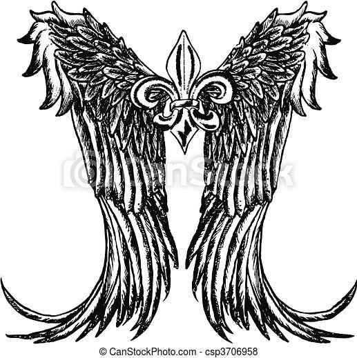 tribal wing design - csp3706958