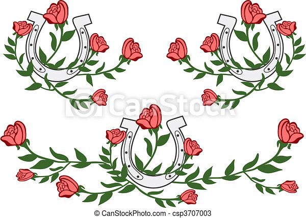 flower wild west graphic - csp3707003
