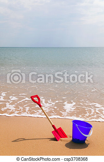 Seaside bucket and spade - csp3708368