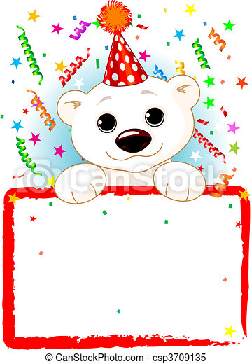 Polar Bear Cab Birthday - csp3709135