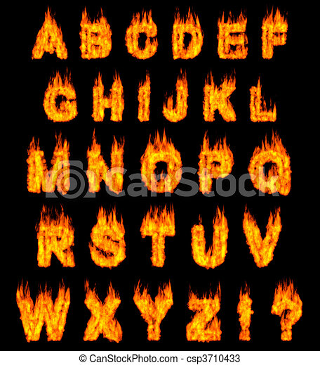 Burning Alphabet - csp3710433