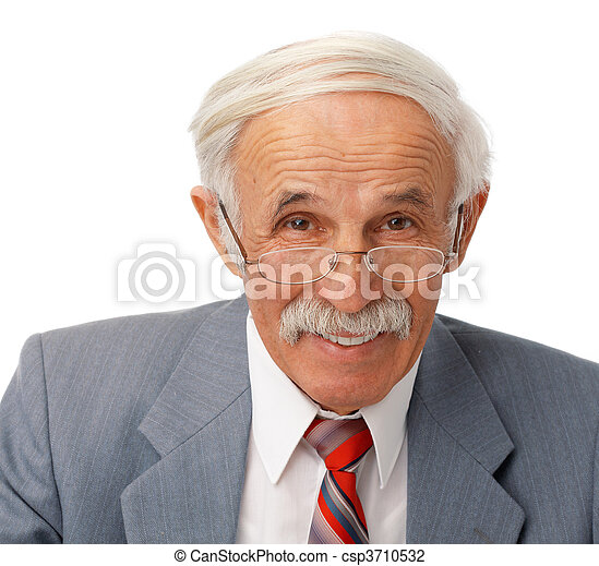Portrait of an elder happy man - csp3710532