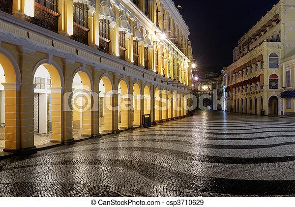 Macao landmark - Senado Square - csp3710629