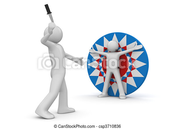 Lifestyle collection - Knife throwing - csp3710836