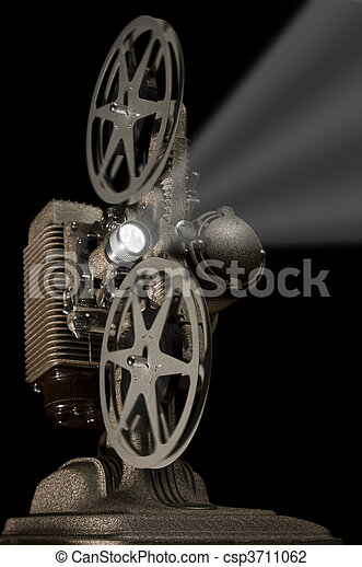 retro, projektor - csp3711062