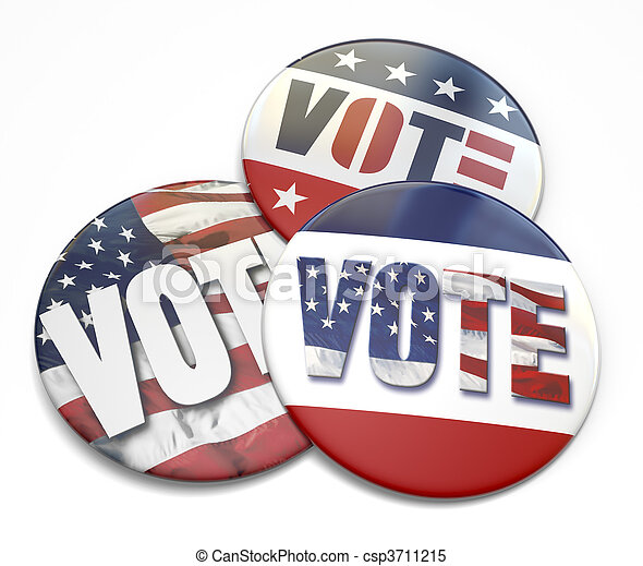 Vote Button - csp3711215