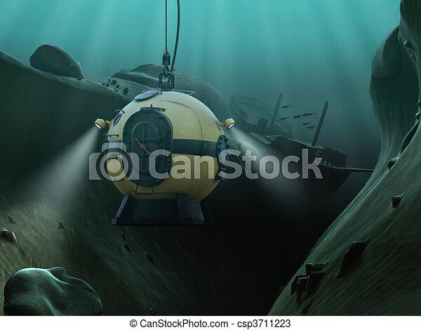 Diving Bell - csp3711223