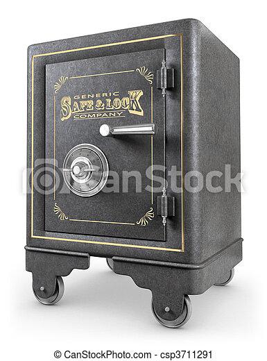 Vintage Safe - csp3711291