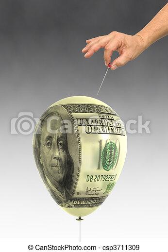 Economic Bubble - csp3711309