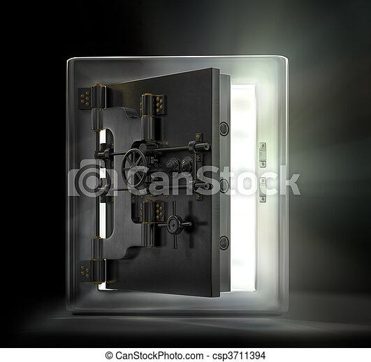 Vintage Safe - csp3711394