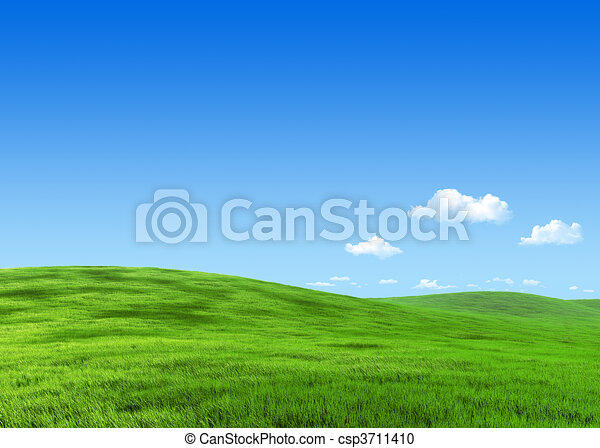 7000px nature collection - Green meadow template - csp3711410