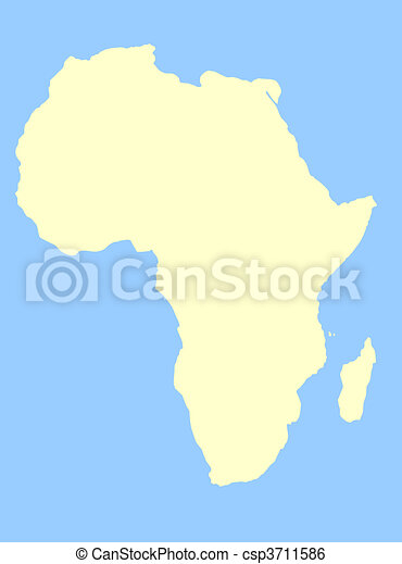 African Continent - csp3711586