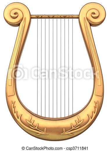 Clipart De Lyre A Stringed Lyre Musical Instrument Sur A Csp3711841 Recherchez Des