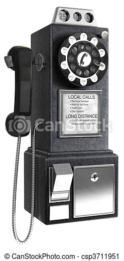 50\'s Pay phone - csp3711951