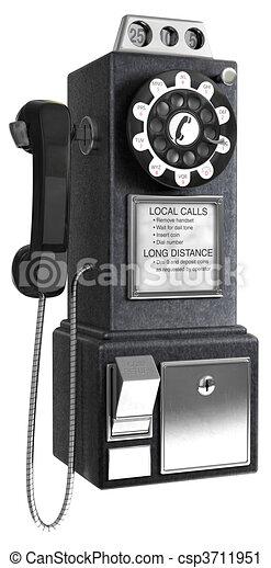 50\'s Pay phone - csp3711951