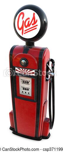 1950s gas pump   csp3711995