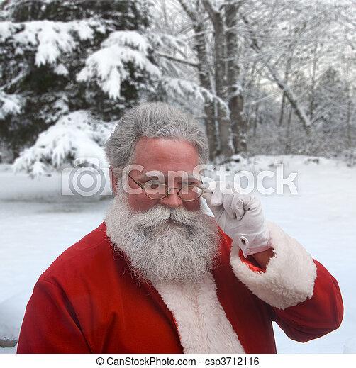 Winter Santa - csp3712116