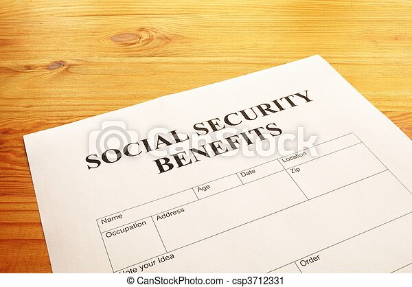social security benefits - csp3712331