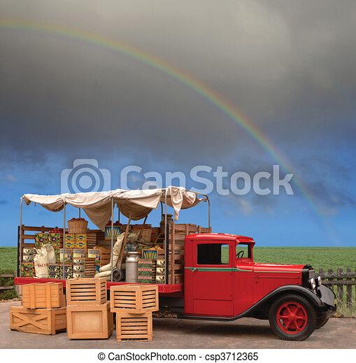 Produce Truck - csp3712365