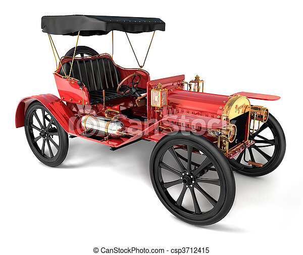 Antique Car 1910 - csp3712415