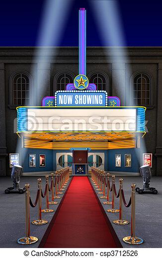 Movie Theatre & Ticket Box - csp3712526