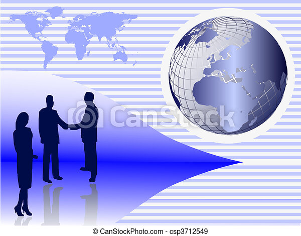 A group of business people shaking hands  - csp3712549