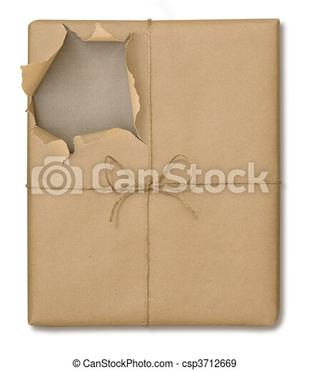 Brown Paper Package Opened - csp3712669