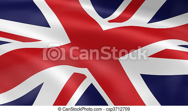 United Kingdom flag in the wind - csp3712709