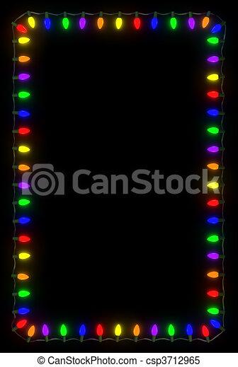 Christmas Lights Frame - csp3712965