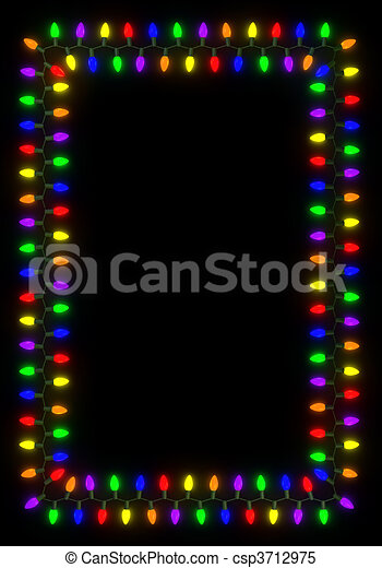 Christmas Lights Frame - csp3712975