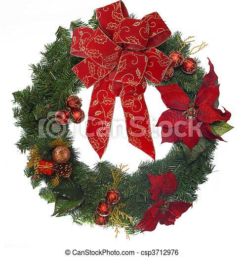 Kranz, Weihnachten - csp3712976