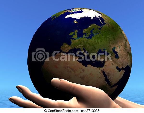 EARTH GLOBE - csp3713036