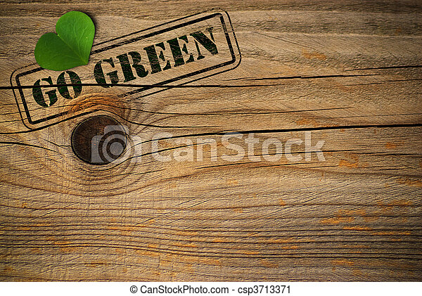 eco friendly background - go green - csp3713371