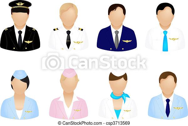 Aircraft Crew Icons - csp3713569