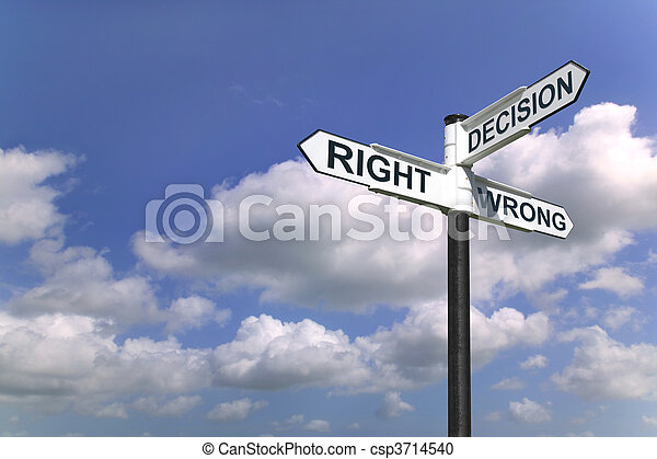 Decisions sign in the sky - csp3714540