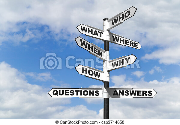 Questions and Answers signpost - csp3714658
